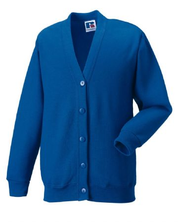 MILLER ACADEMY  PRIMARY SCHOOL ROYAL BLUE  CARDIGAN WITH LOGO
